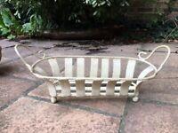 Cream iron garden window planter