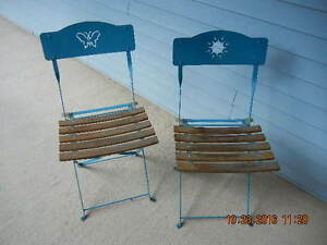 Metal folding Bistro Chairs