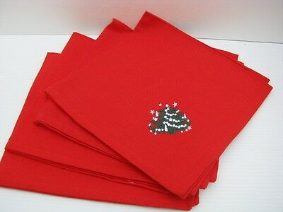 Embroidered Waechtersbach Christmas Tree Napkins Set of 4 New