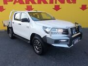2017 Toyota Hilux GUN126R SR Double Cab White 6 Speed Manual Cab Chassis Winnellie Darwin City Preview