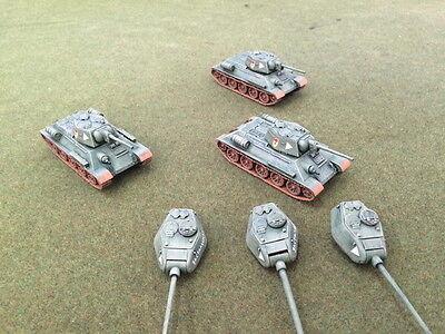 1/72,20mm World War II DPS painted Soviet T-34 5th Gd Tank Platoon Kursk W72T34b