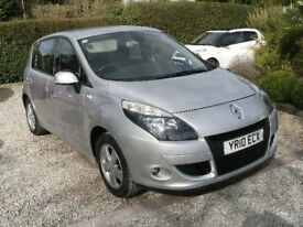 2010 RENAULT SCENIC 1.5 DCI TOM TOM MODEL SILVER WITH FULL SERVICE HISTORY 12 MONTH M.O.T.
