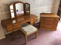 Jentique Bedroom Furniture Set (Dressing Table / Mirror Unit / Chest Of Drawers)