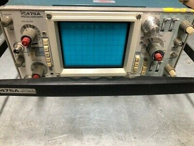 Tektronix 475a 250mhz 2ch Oscilloscope - Calibrated Certificate Included