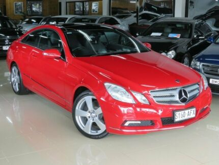 2009 Mercedes-Benz E350 207 Elegance Opal Fire 7 Speed Automatic G-Tronic Coupe Seaford Frankston Area Preview