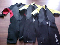 3 BRAND NEW WETSUITS. 1 MALE, 2 FEMALE