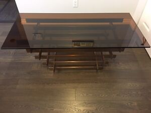 Liberty Coffee Table w/Amber Glass Top *NEW*