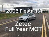 £850 2005 Ford Fiesta Zetec 1.4l *like Corsa Clio Micra Fiesta polo punto getz c1 aygo 107