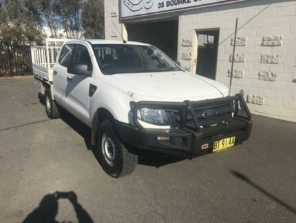 2012 Ford Ranger PX XL 3.2 (4x4) White 6 Speed Manual Dual Cab Chassis