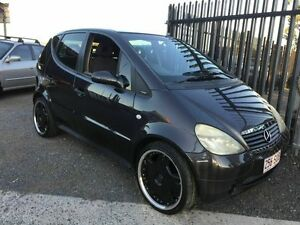 1999 Mercedes-Benz A140 Classic Black 5 Speed Manual Direct Shift Hatchback Underwood Logan Area Preview