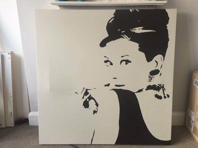 Ikea Audrey Hepburn Breakfast At Tiffany Canvas In West