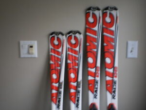 Full on race  Atomic JR Race12 SL and GS set, $400 for both