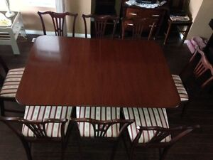 Antique maple dining room table