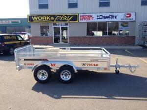 "NEW 2018 K-TRAIL 66"" x 10' GALVANIZED UTILITY TRAILER"