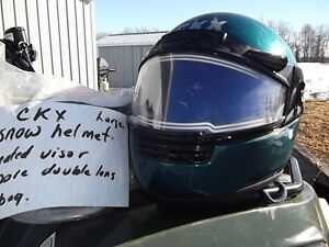CKX large snow helmet with heated visor