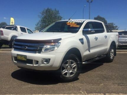 2011 Ford Ranger PX XLT Double Cab White 6 Speed Manual Utility