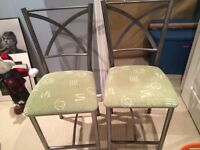 Brushed Stainless Steel Bar Stools