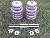 63.8 lb 29 kg Grey Spinlock Dumbbell & Barbell Weights