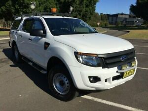 2014 Ford Ranger PX XL 2.2 (4x4) White 6 Speed Automatic Crew Cab Utility Homebush West Strathfield Area Preview