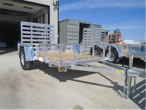 EASY TOW, LIGHT WEIGHT, QUALITY ALUMINUM UTILITY TRAILER - 5X10! London Ontario image 2