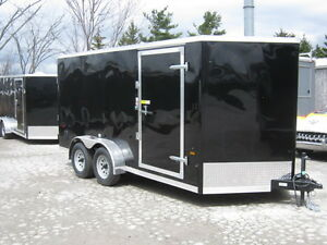 "7X14 + 30"" VNOSE TANDEM AXLE TRAILER WITH REAR RAMP Oakville / Halton Region Toronto (GTA) image 1"