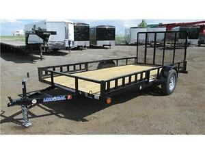 2017 SINGLE AXLE 14' UTILITY W/ SIDE RAMPS AND GATE (3500 LB GVW