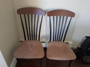REDUCED - Tan suede chairs for sale (pair)!
