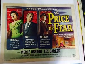 Vintage 1950's Movie Poster – Merle Oberon -The Price Of Fear