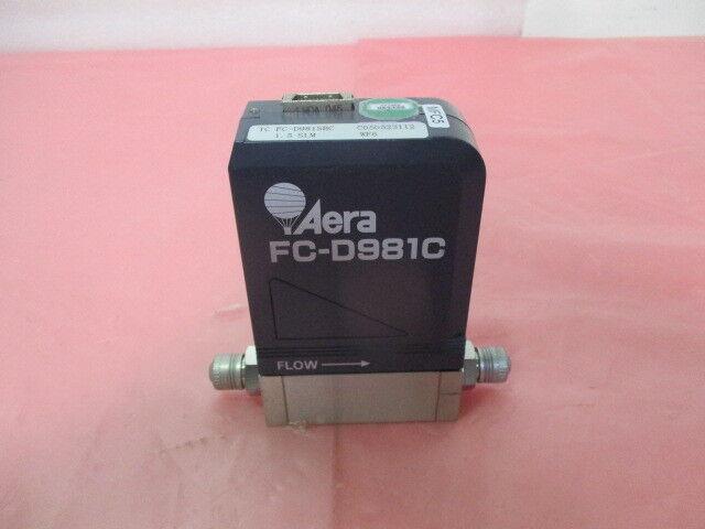Aera FC-D981SBC Mass Flow Controller, MFC, WF6, 1.5 SLM, 22-146283-00, 421350