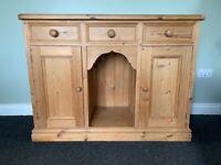 Solid Pine Sideboard Dresser Base
