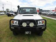 2014 Toyota Landcruiser White Manual Cab Chassis Pakenham Cardinia Area Preview