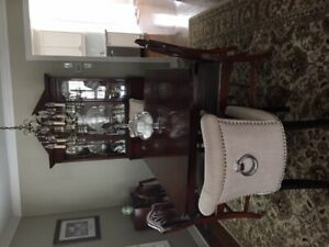Antique Duncan Phyfe Cherry Dining set and hutch