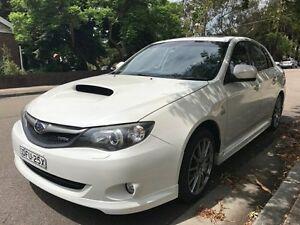 2010 Subaru Impreza G3 MY10 WRX Club Spec 10 AWD White 5 Speed Manual Sedan Croydon Burwood Area Preview