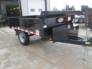 Single axle dump trailer - Comes loaded w/tarp kit and tool box London Ontario image 2