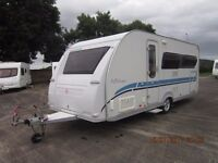 2007 ADRIA ADIVA 542 UL 4 BERTH CARAVAN WITH FIXED BED TWO SINGLES OR LARGE DOUBLE.