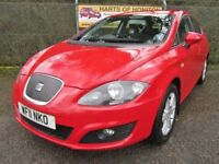 Seat Leon 1.6 SE Ecomotive CR TDi Turbo Diesel 5DR (red) 2011