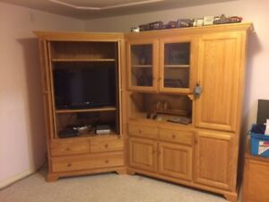 Entertainment Center (Custom Made Solid Oak)