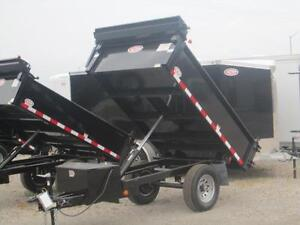 Single axle dump trailer - Comes loaded w/tarp kit and tool box London Ontario image 6