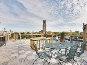 Private terrace fully furnished condo Atwater market