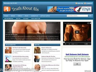 Hot Abs Fitness Wordpress Blog Website For Sale