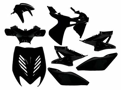 Matt Black Body Panel Kit Yamaha Aerox MBK Nitro YQ 50 100 cc