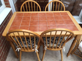 Kitchen and four chairs for sale - Ilminster area