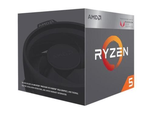AMD RYZEN 5 2400G Quad-Core 3.6 GHz 3.9 Turbo Socket AM4 65W Desktop Processor 2