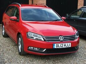 2012 VW BLUE MOTION PASSAT TDI ESTATE. One lady driver from new. Genuine low mileage - immaculate