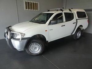 2008 Mitsubishi Triton ML MY08 GLX (4x4) White 5 Speed Manual 4x4 Dual Cab Utility Woodridge Logan Area Preview