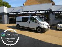 2013 Vauxhall Vivaro 2,9t 2.0CDTi 115ps Double Cab LWB Twin SLD Diesel white Man