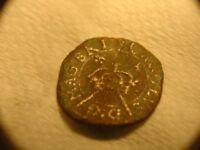 KING CHARLES 1 ROSE FARTHING 1650 A.D.