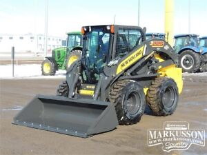 New Holland L225 Skid Steer - 2,500lbs lift, lap bar, A/C, Heat