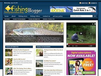Fishing Reports   Hunting Tips Niche Wordpress Blog Website For Sale