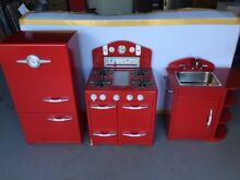 Pottery Barn Kids Retro Kitchen - Red (Fridge, Oven and Sink) St Lucia Brisbane South West Preview